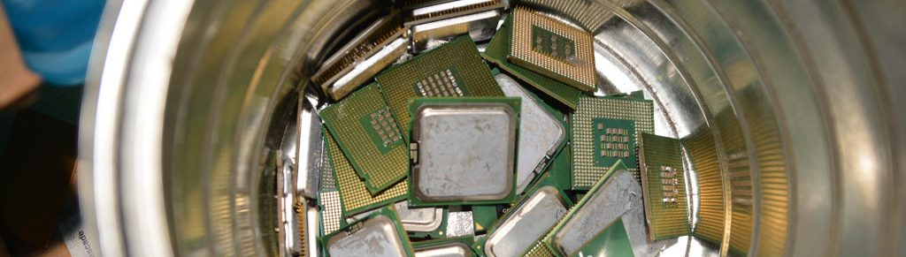 CPU Chips in Bucket